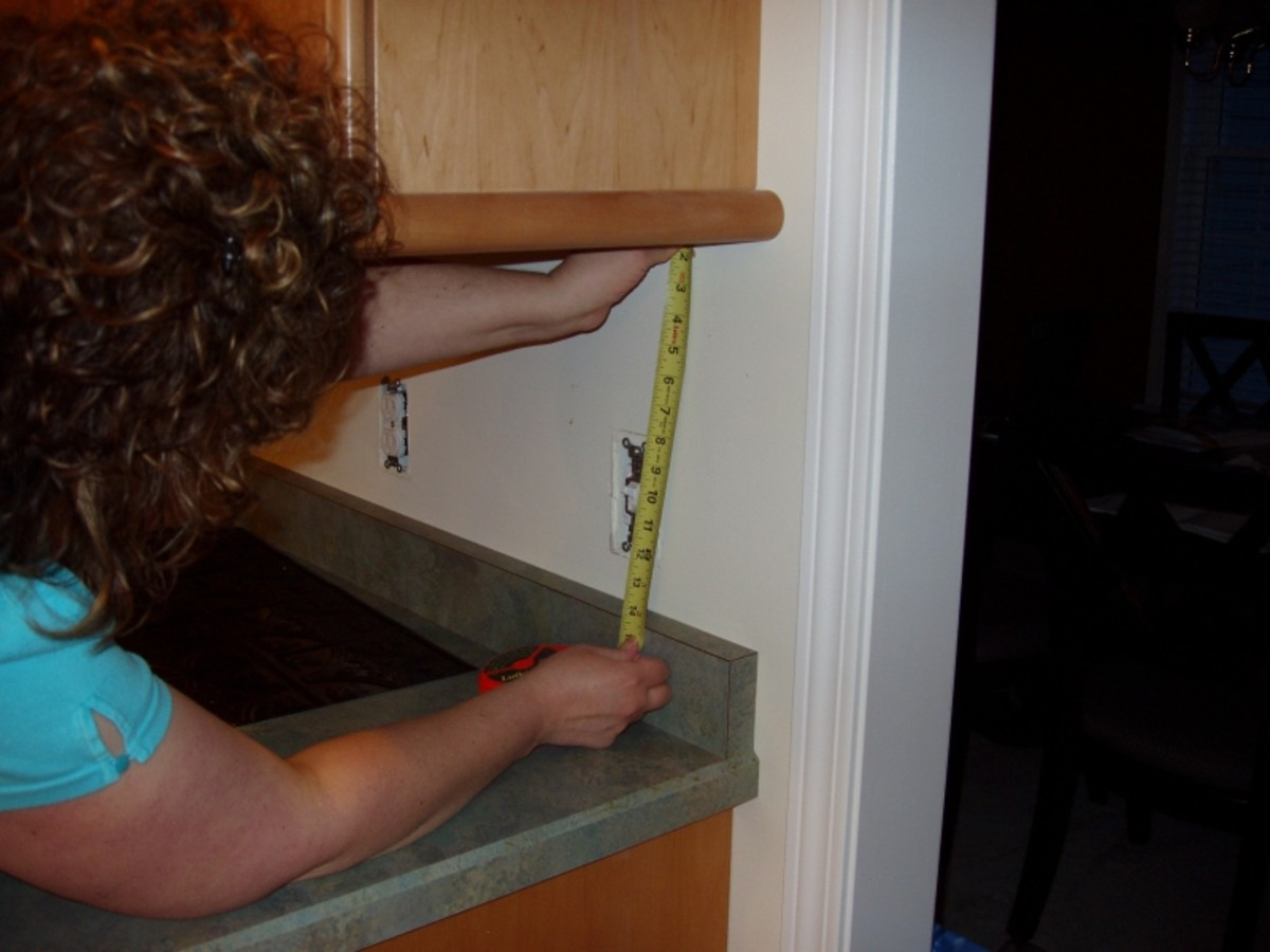 Step 2 - Measure the cabinet height.
