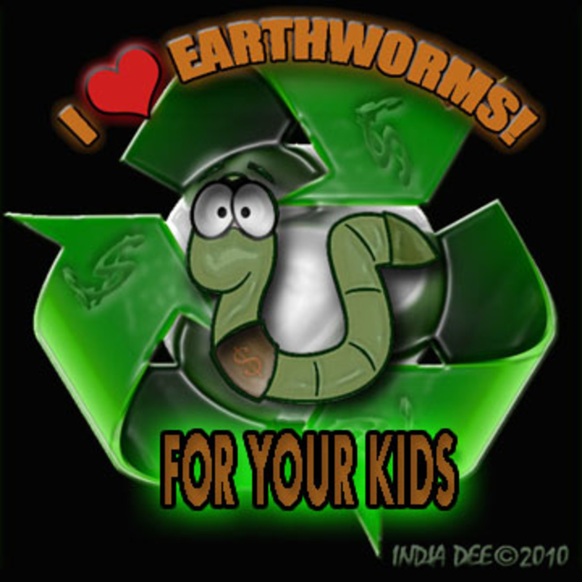 I Love Earthworms graphic