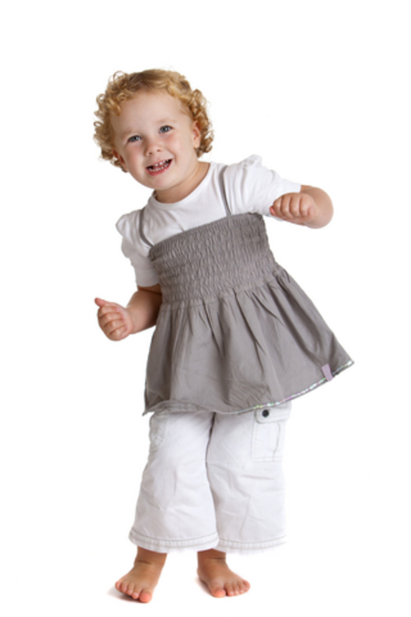 cute dancing toddler