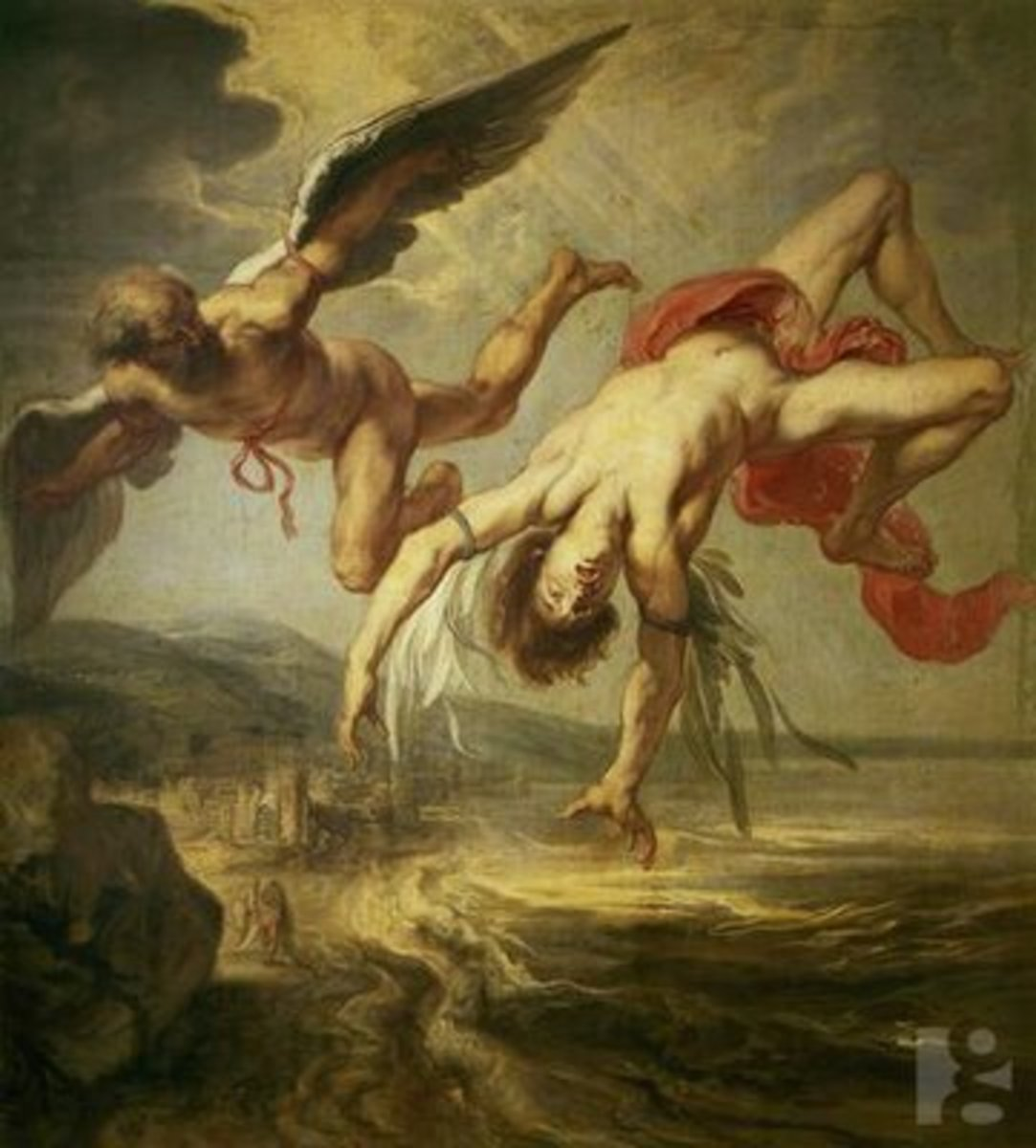 Like Icarus, Faustus flew too close to forbidden realms.