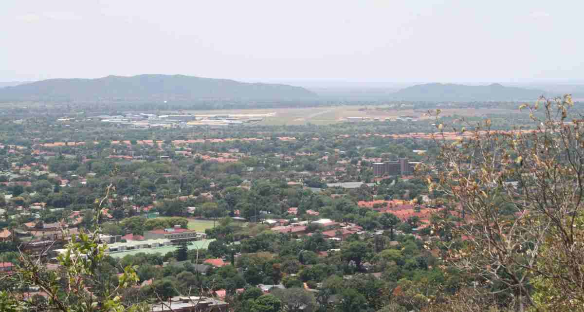 Looking out over the northern suburbs of Pretoria