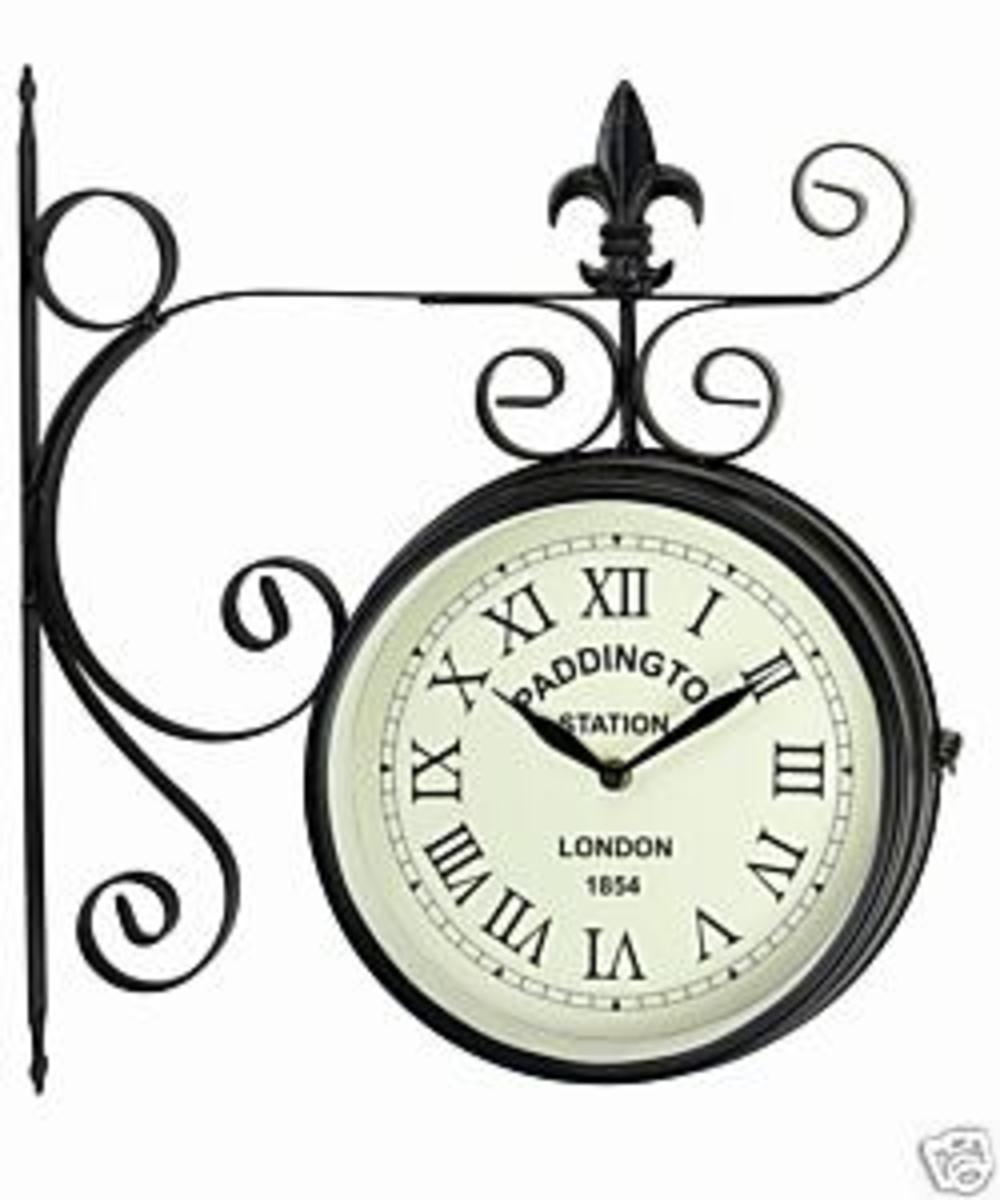 Replica train station clocks make ever popular outdoor and garden clocks