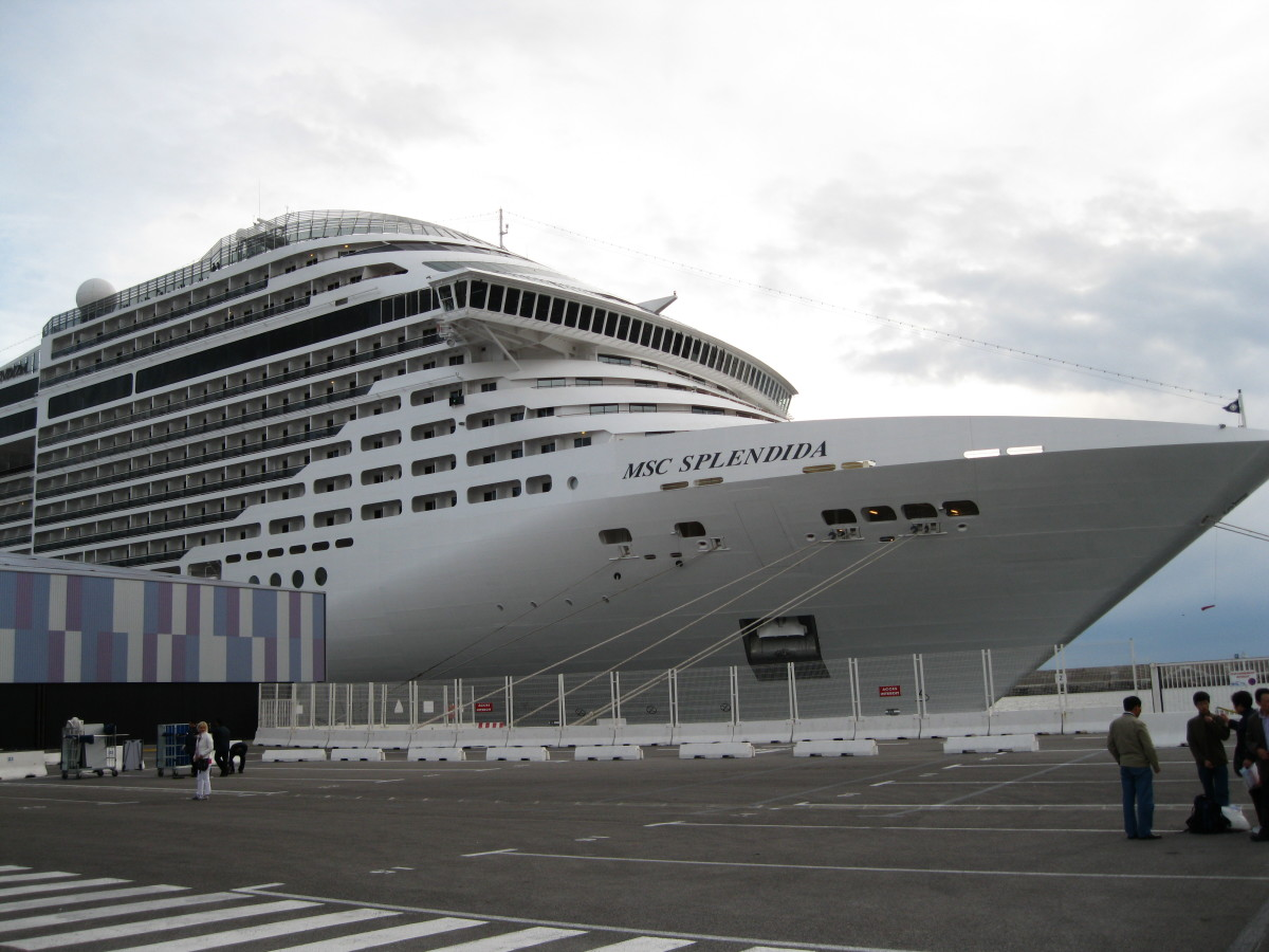 The cruise ship MSC Splendida on which we cruised the Western Mediterranean for 7 days last week before spending this week in Barcelona, Spain.