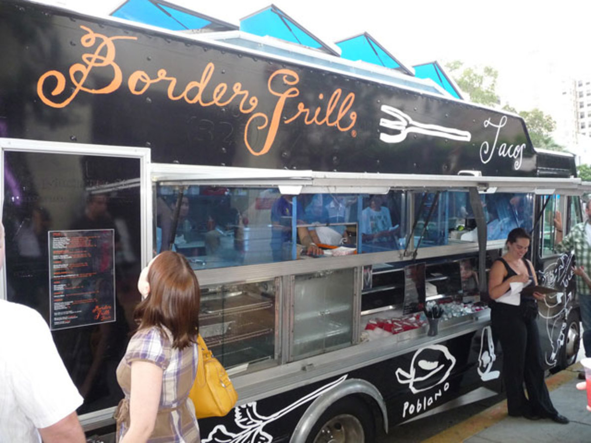 The Border Grill Truck puts a modern and deliciously inspired spin on Mexican taco truck fare -- for an affordable price.
