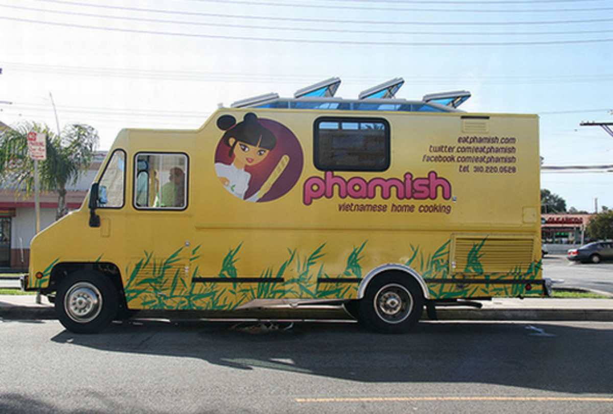 Among the Asian food trucks, Vietnamese  with its fine style of street food  has become a major player, and Phamish tops the charts when it comes to food trucks.