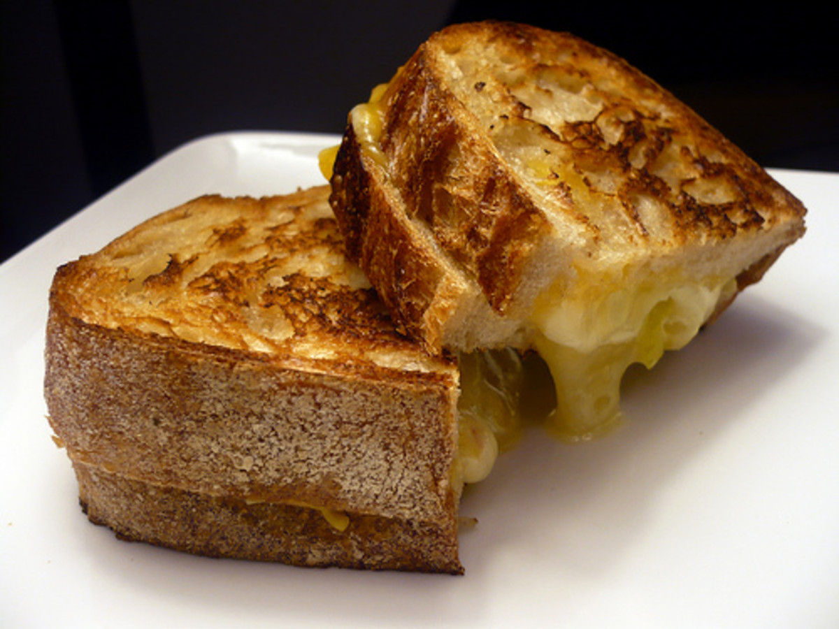 Classic grilled cheese is what you get with the Plain and Simple Melt.