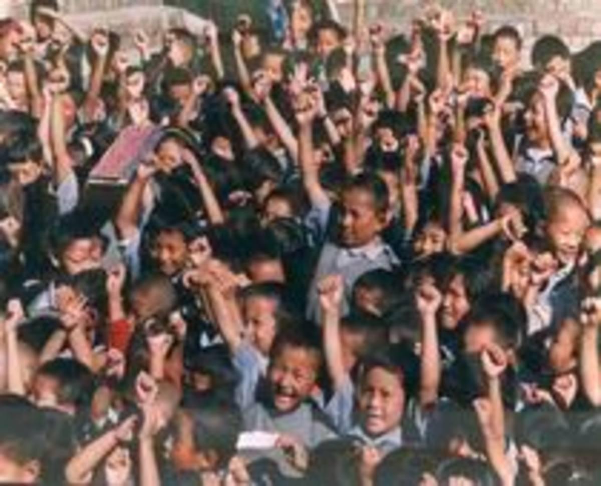 Children longing to go School