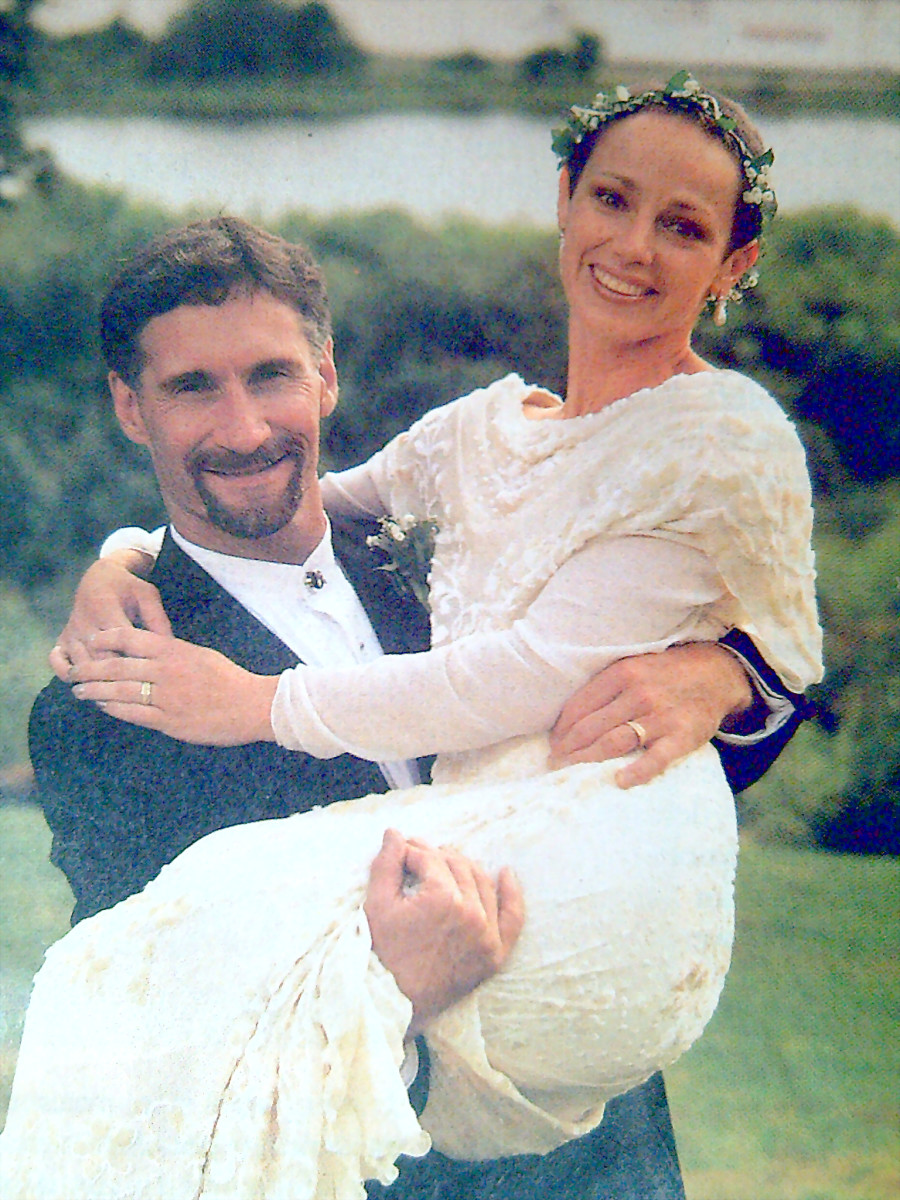 Diana Golden and Steve Brosnihan during their wedding