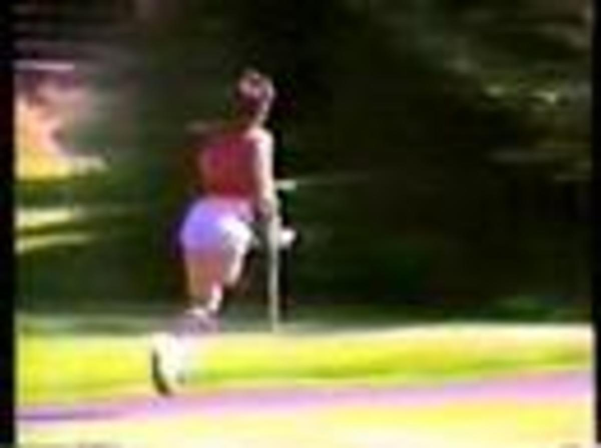 Diana Golden in fast crutches