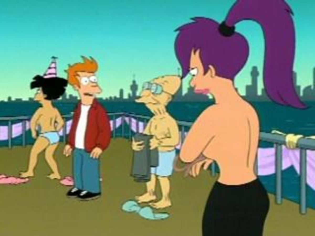 Futurama is a show that explains that the future will be naked.