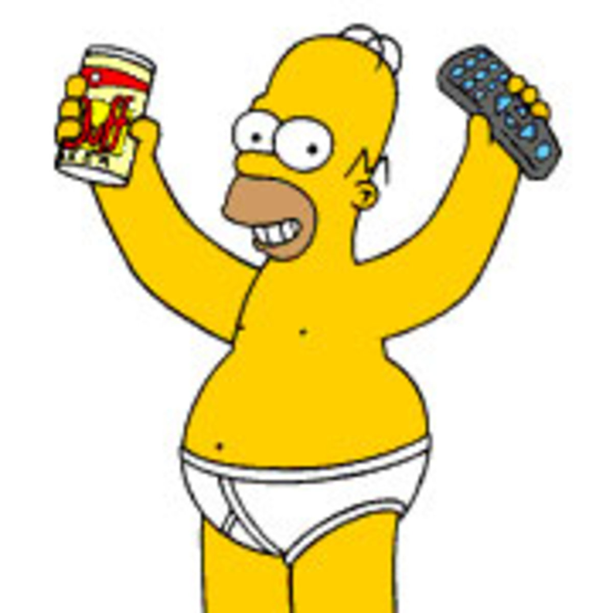 Homer Simpson is all man.