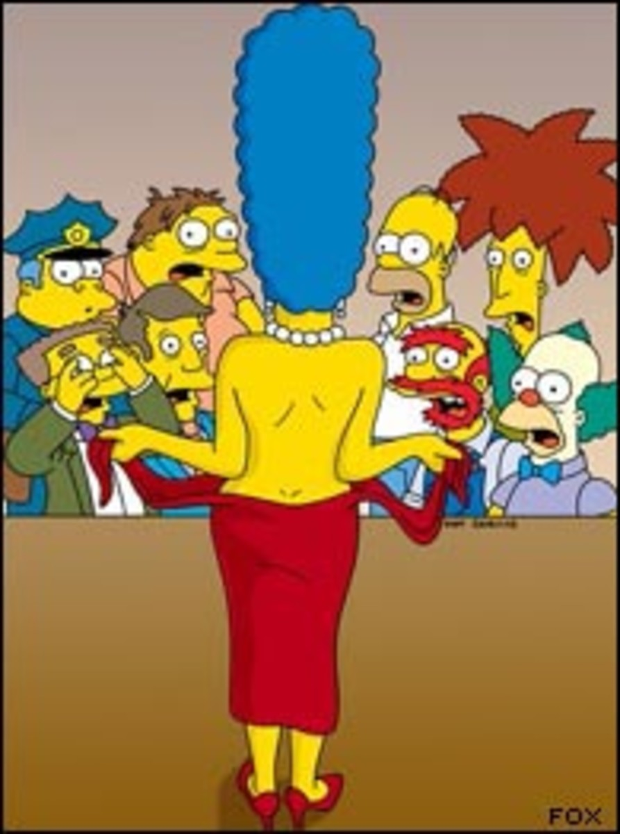 Marge Simpson is a woman with assets.
