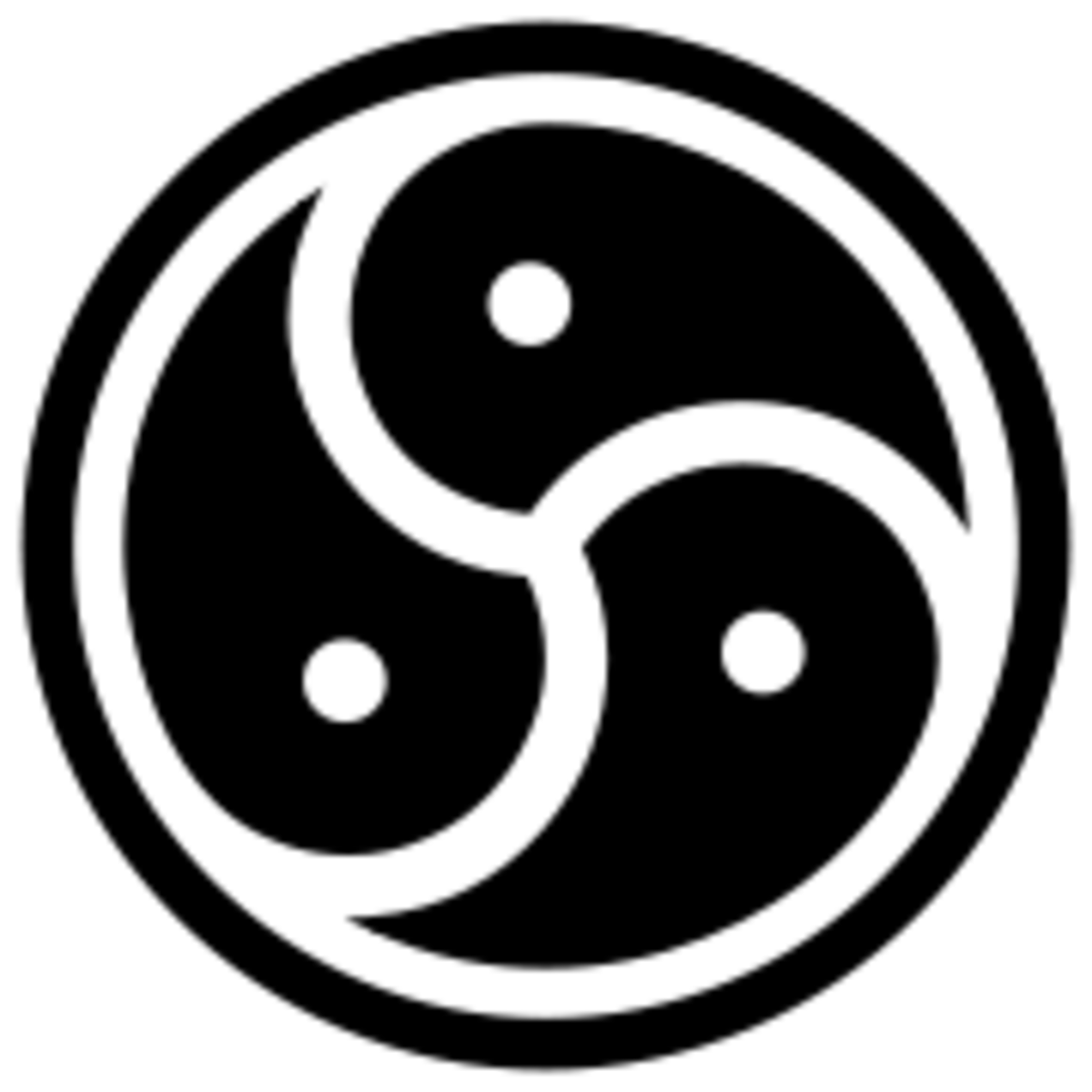 This is the commonly-accepted symbol of the BDSM community.