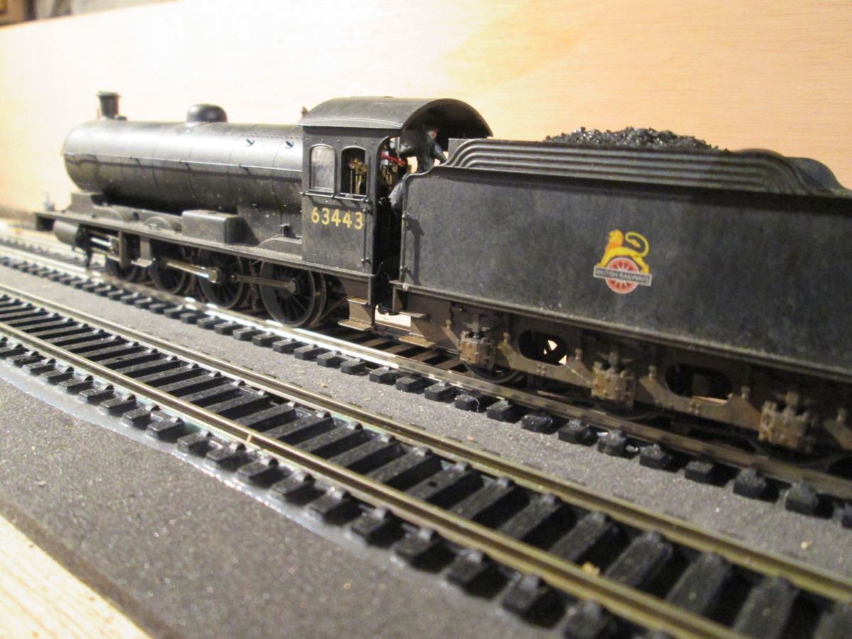 Waverton Hill's 63443 awaits the 'off' - both (Hornby) engines have been weathered by me