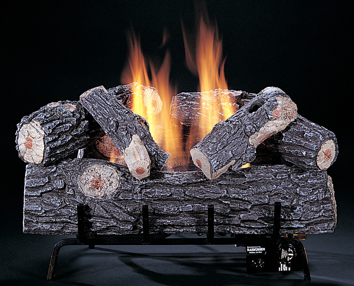 ventless gas fireplace logs with a single burner.  because of the limited BTU's a single burner is made for flame height rather than a wider spread of flame with glowing embers.