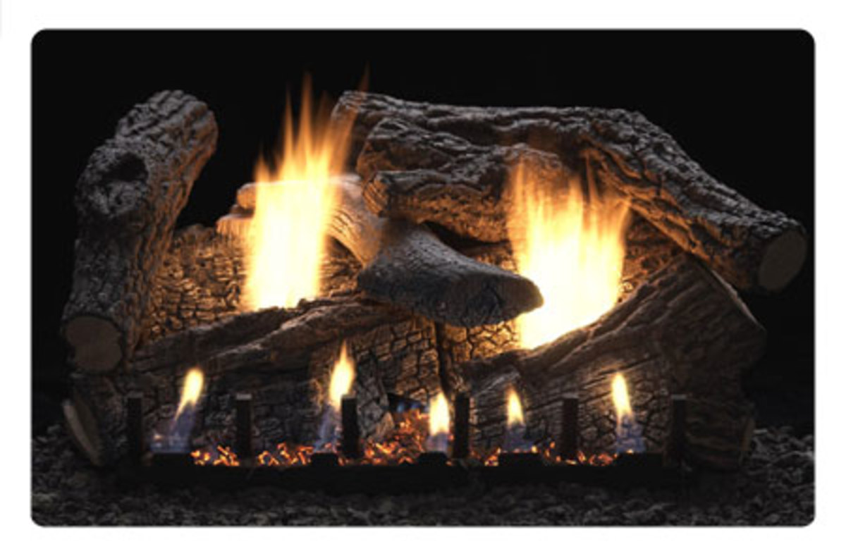 super sassafras by empire, white mountain is one of the most popular ventless gas fireplaces with logs.