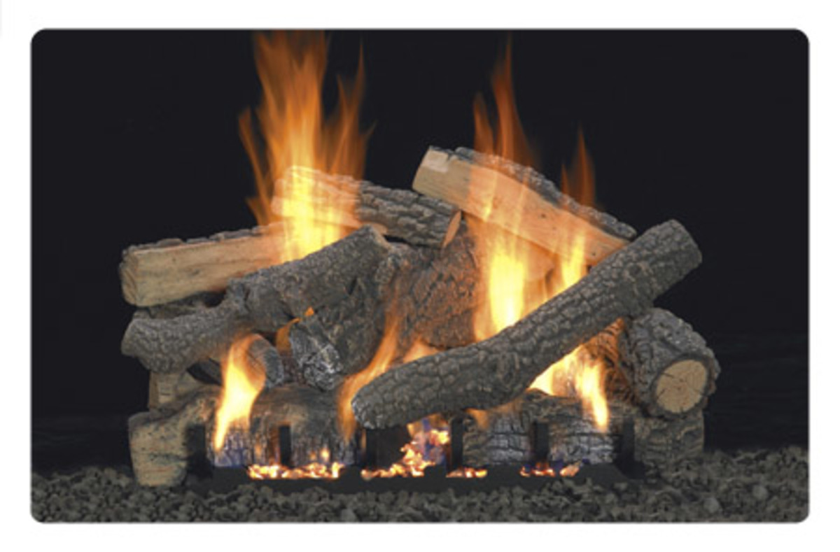 empire comfort vent-free gas fireplace burner is used for both vented and ventless gas fireplace applications.  this gas log set is the ponderossa wit thirteen logs.