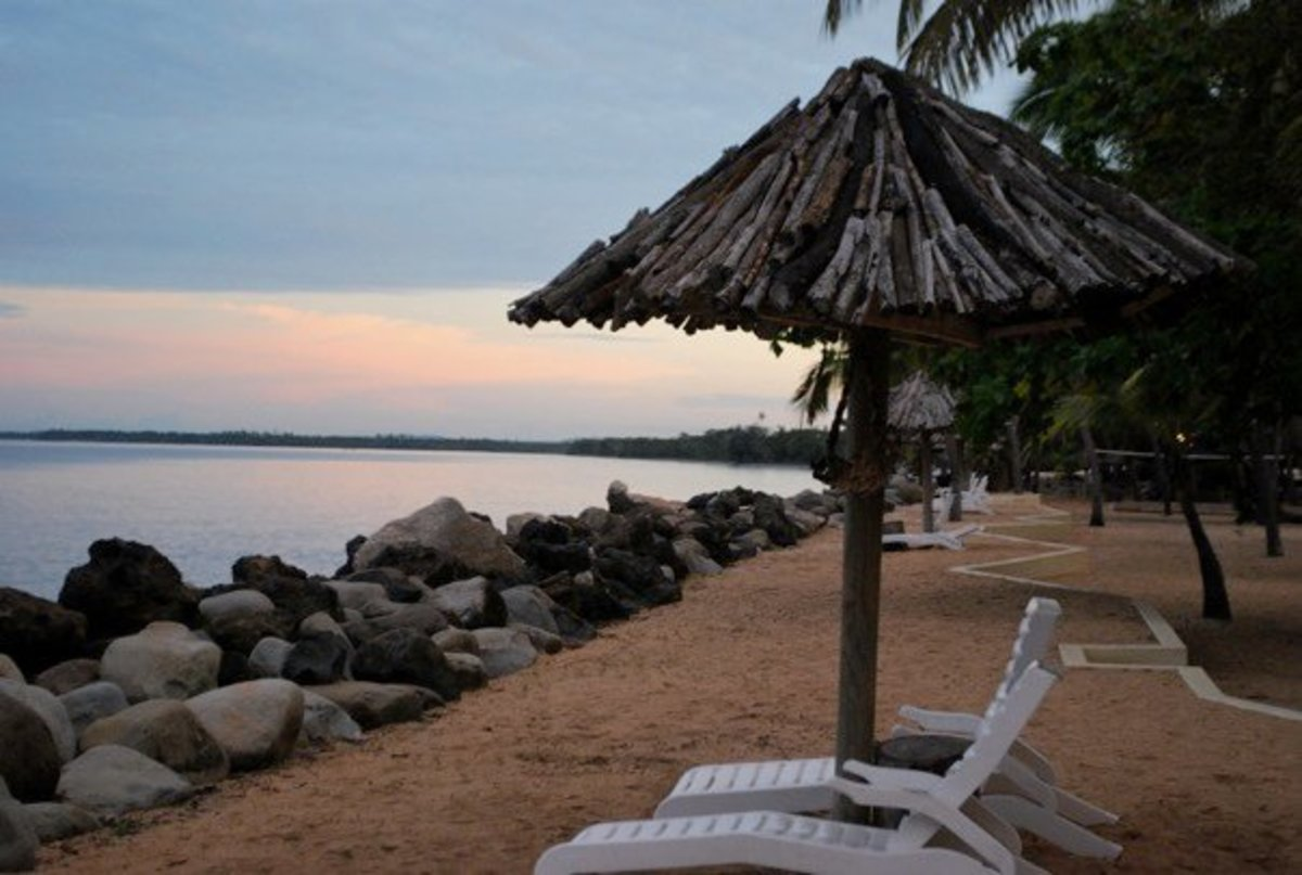 Day dawning in Fiji