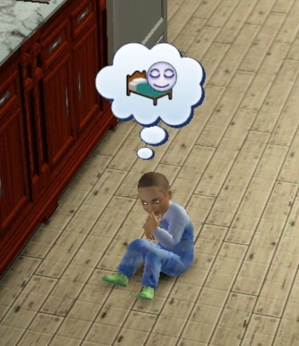 Vampire Sim Toddler (Note the Glowing Eyes)