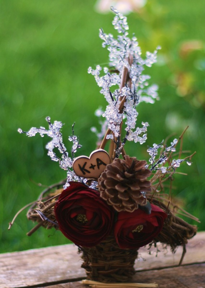 Gorgeous winter flower girl basket