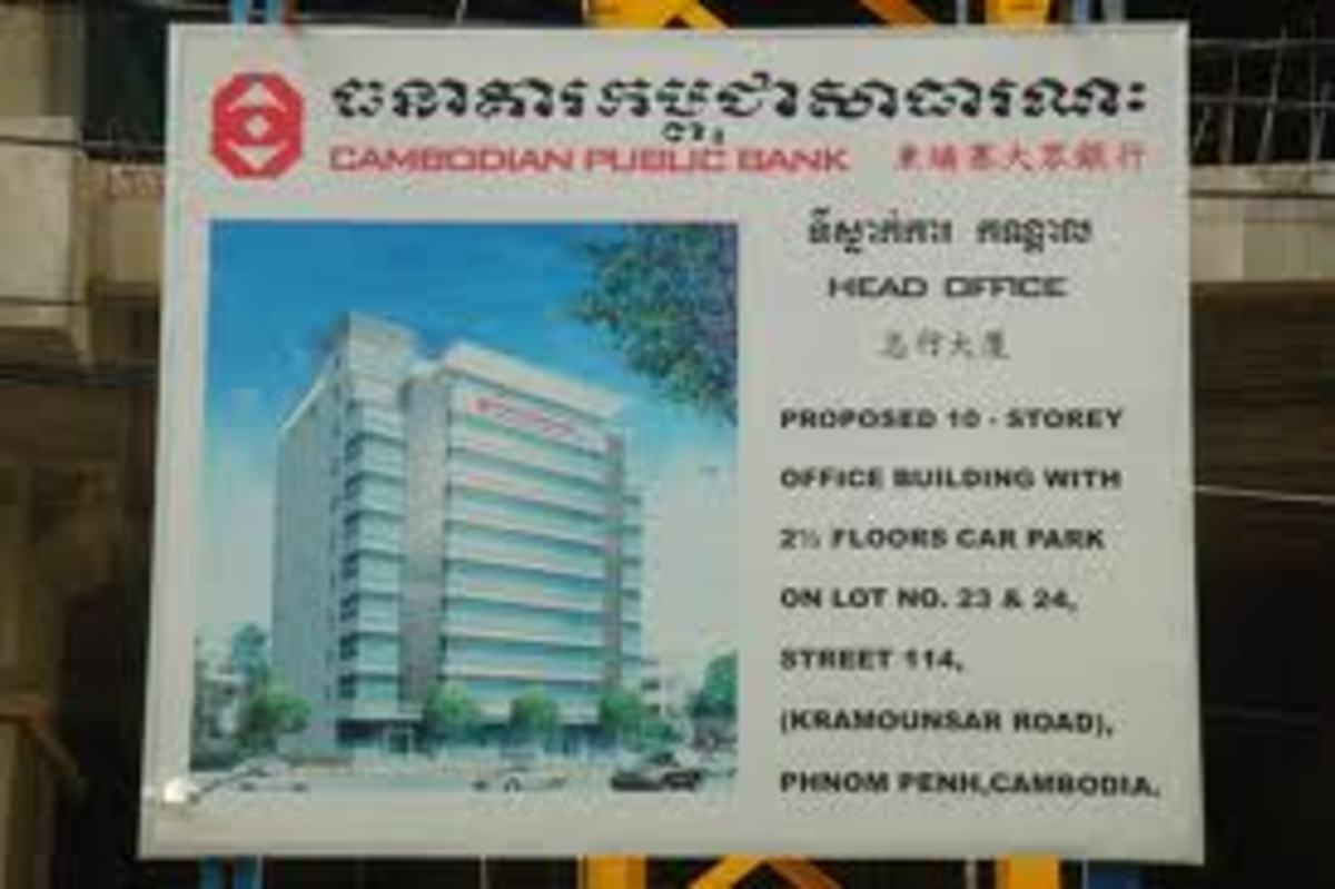 Cambodia Public Bank is one of the four largest banks in Cambodia, but is owned by Malaysia investors.