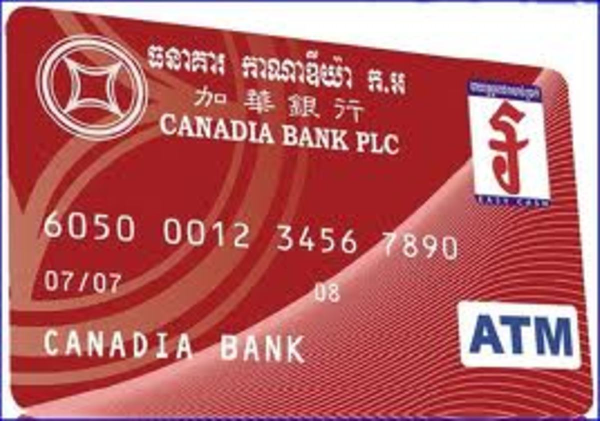 Canadia Bank - offers an ATM Card