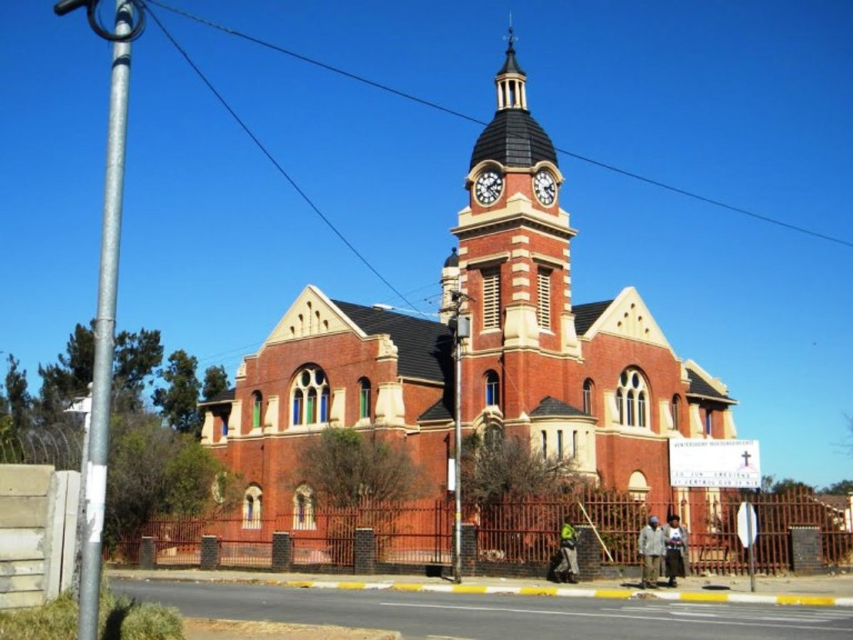 First Dutch Reformed church in Ventersdorp, South Africa
