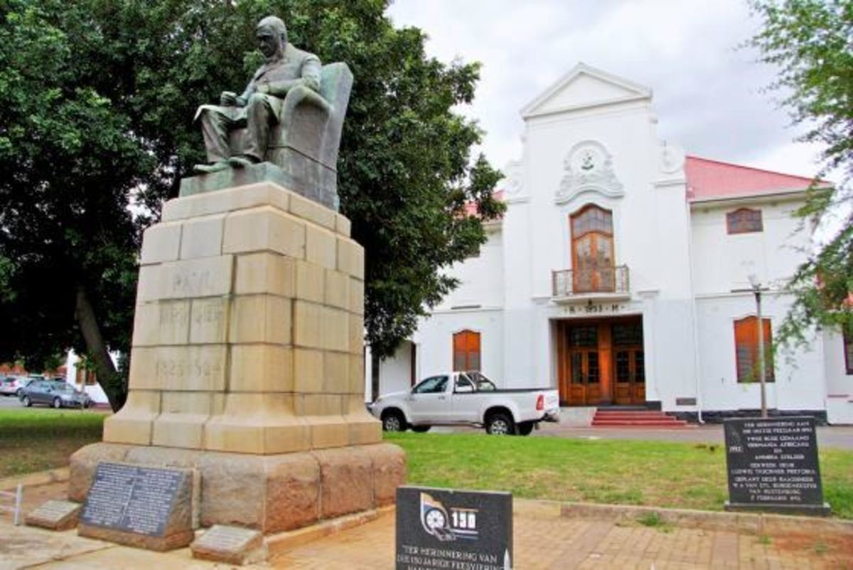 President Paul Kruger's statue in Rustenburg