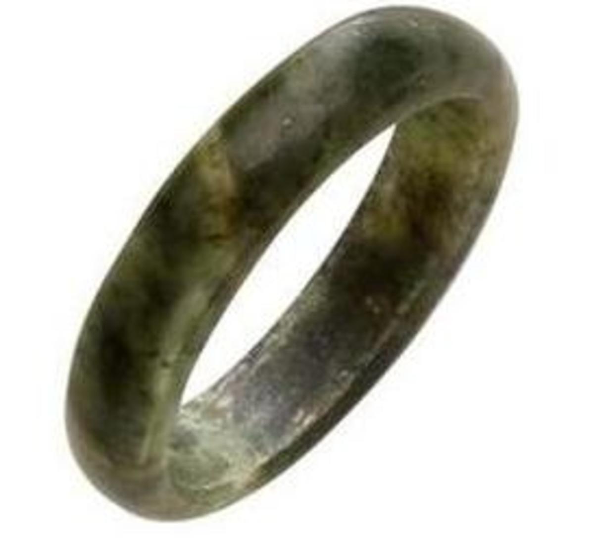 Black Jade Bangle Bracelet