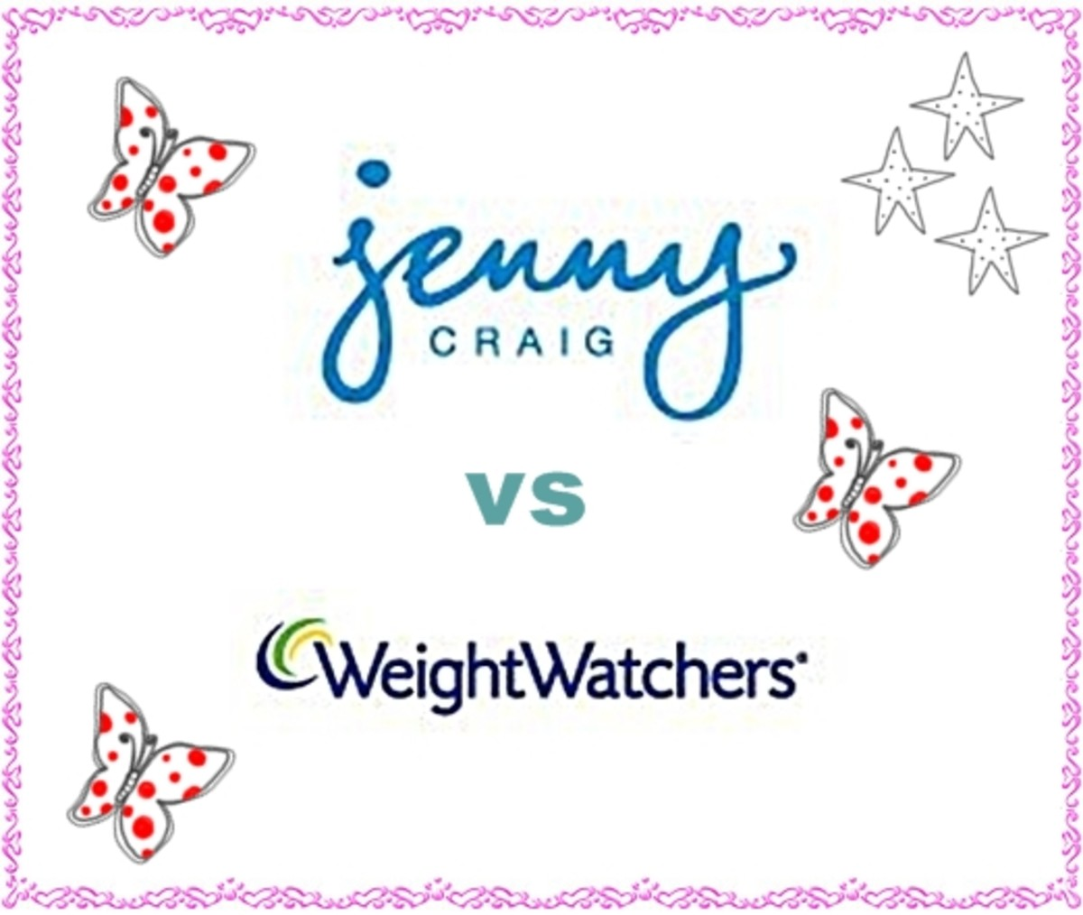 Jenny Craig vs Weight Watchers - see Valerie Bertinelli commercial, Jennifer Hudson before & after size 16 to 6