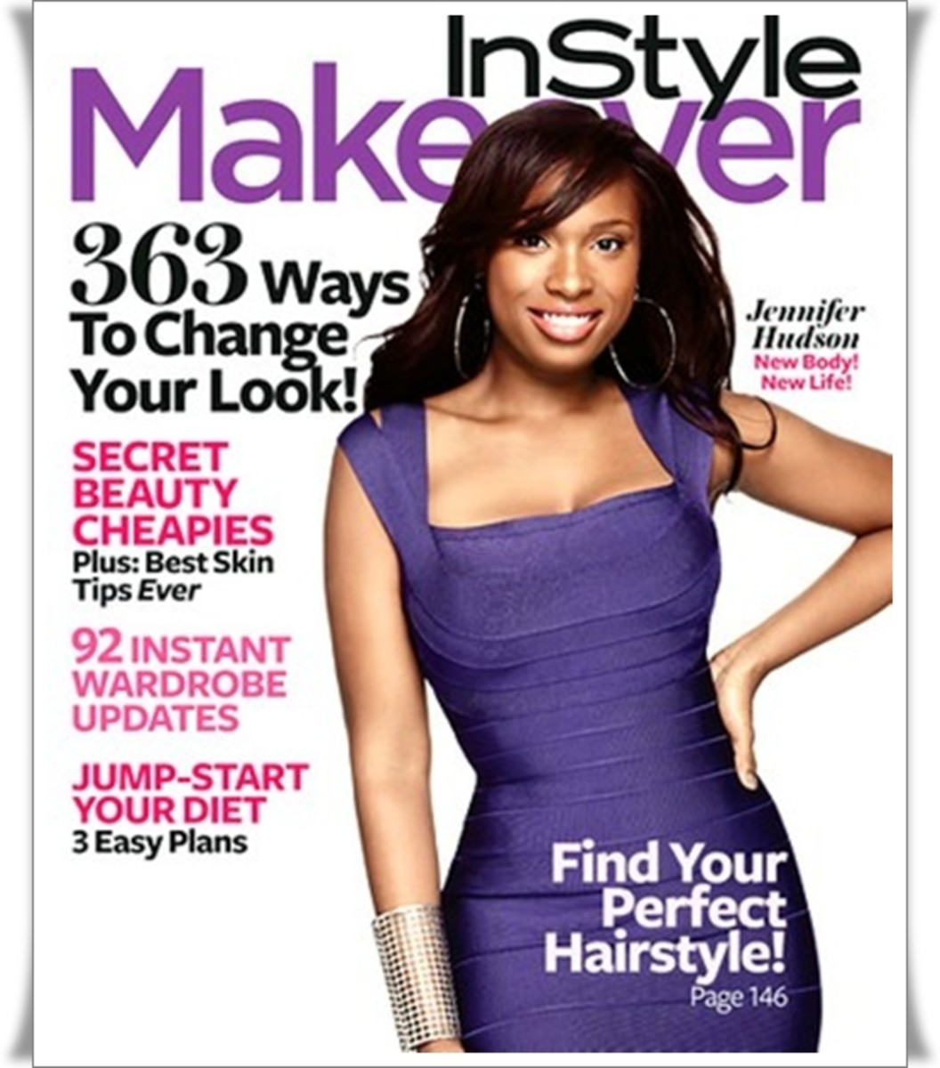 Jennifer Hudson gracing the cover of InStyle Makeover magazine. Photo:  Courtesy of InStyle magazine.