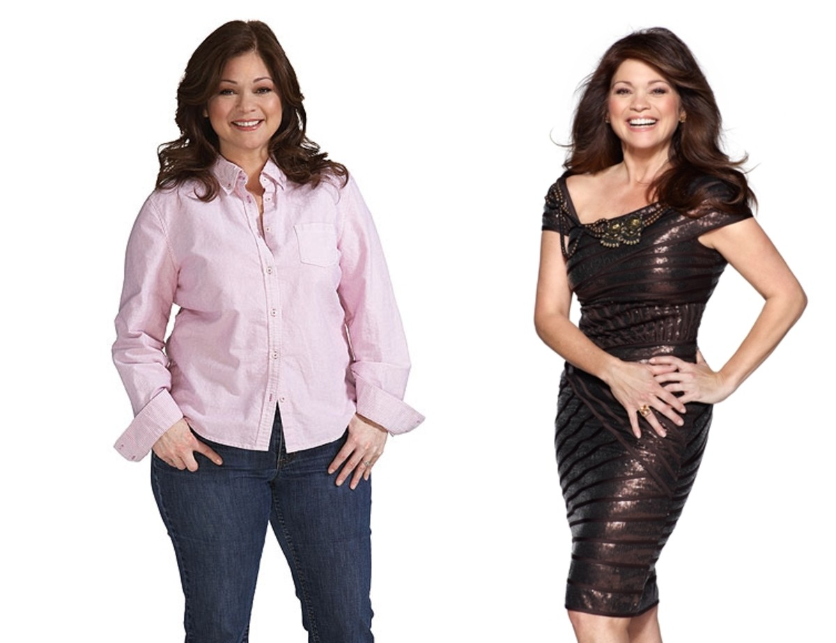 Valerie Bertinelli, then at her heaviest and now starring in Hot in Cleveland
