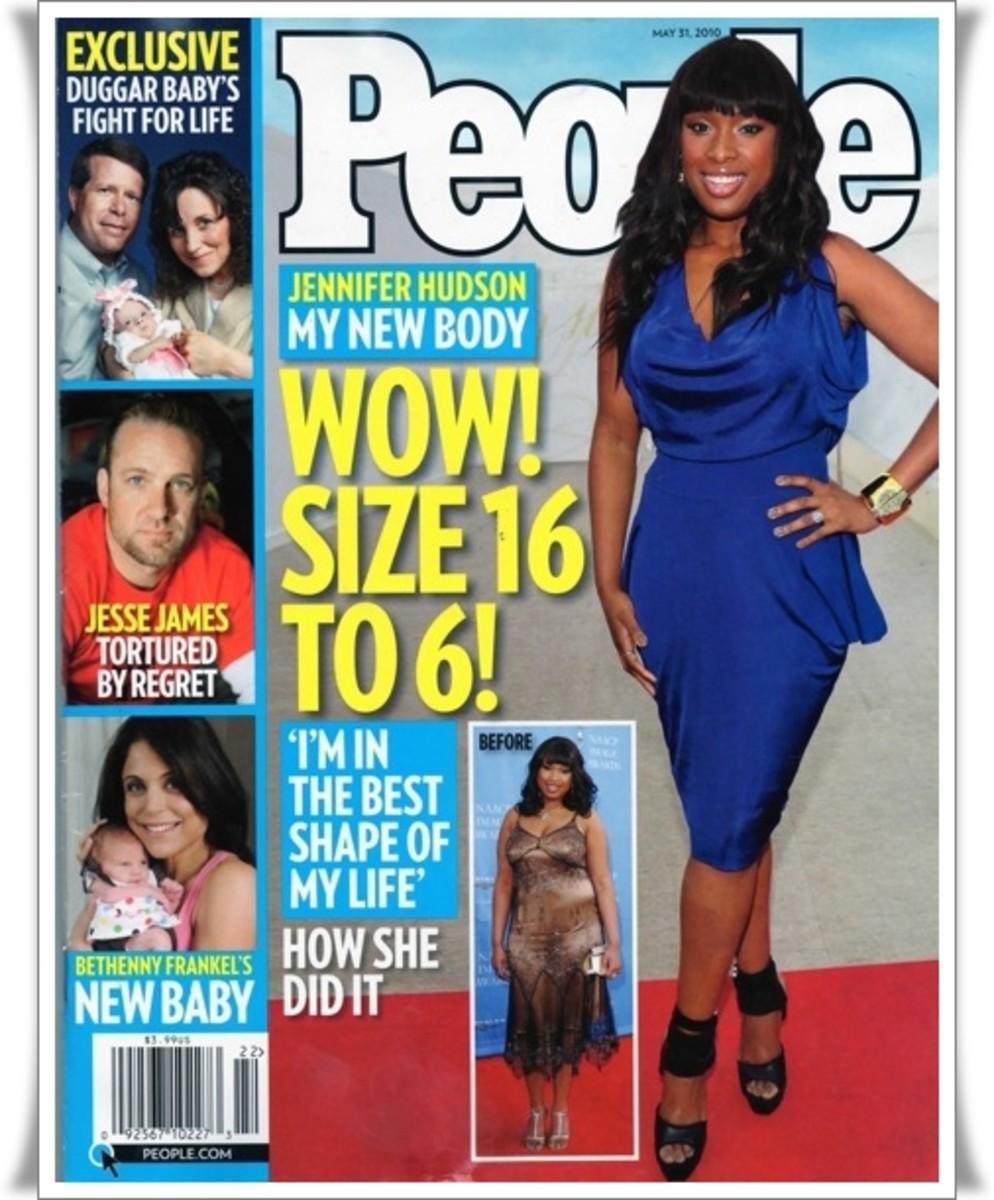Jennifer Hudson on May 31, 2010 issue of People magazine.  Photo: Courtesy of People Magazine