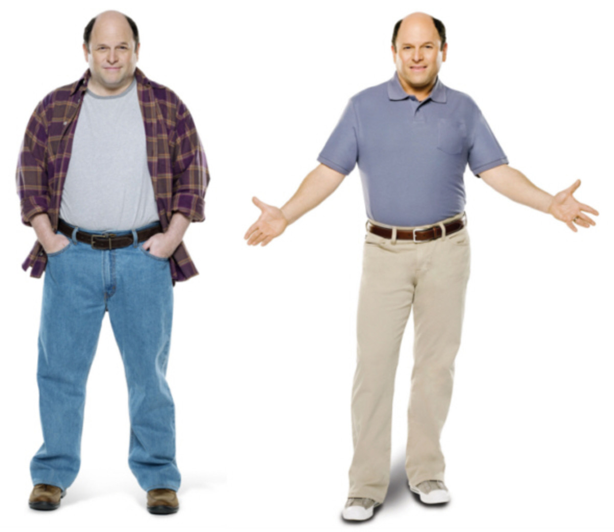 Jason Alexander before and after losing 30 lbs. Photo: Courtesy of Jenny Craig