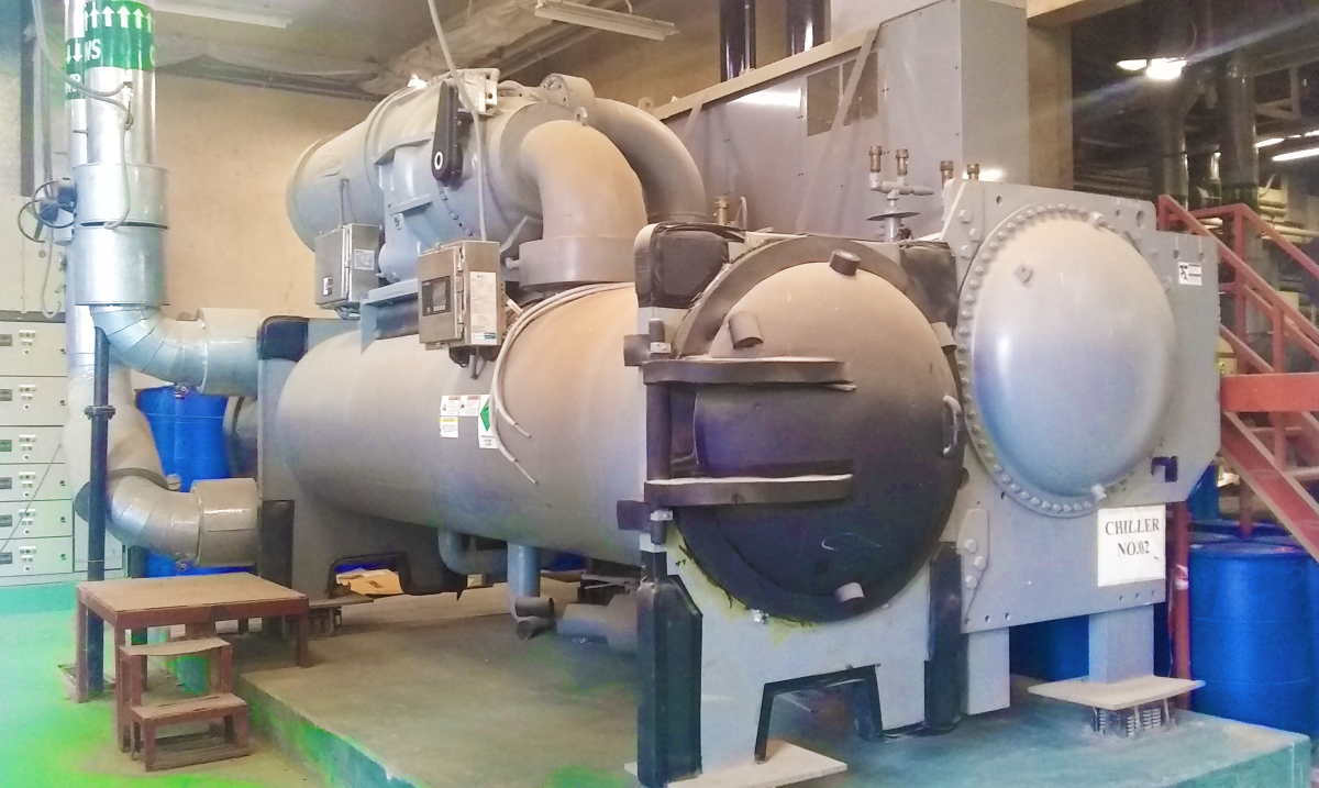 Large loads such as this 1000 tons electric chiller must be carefully scheduled and committed.