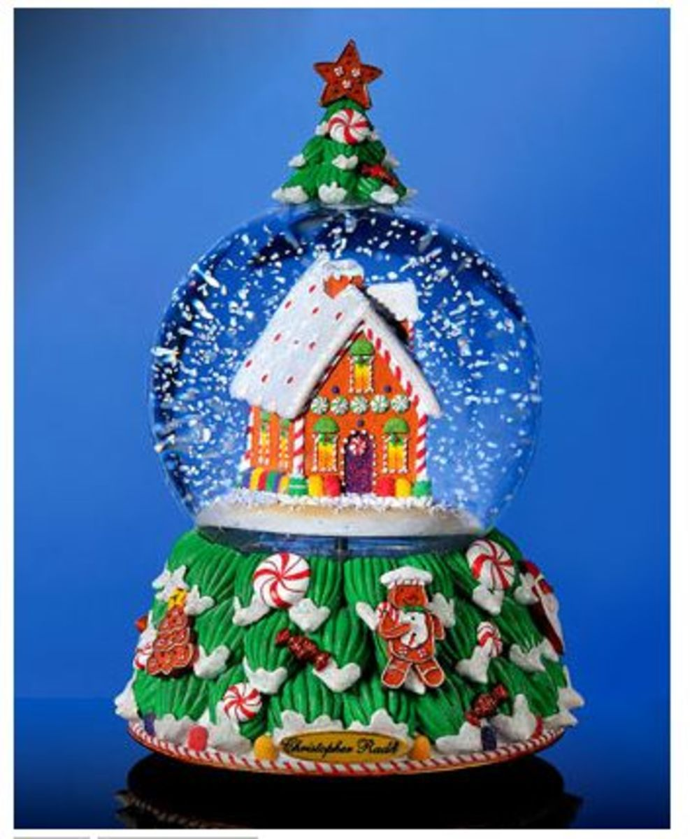 Christopher Radko Christmas Snow Globe