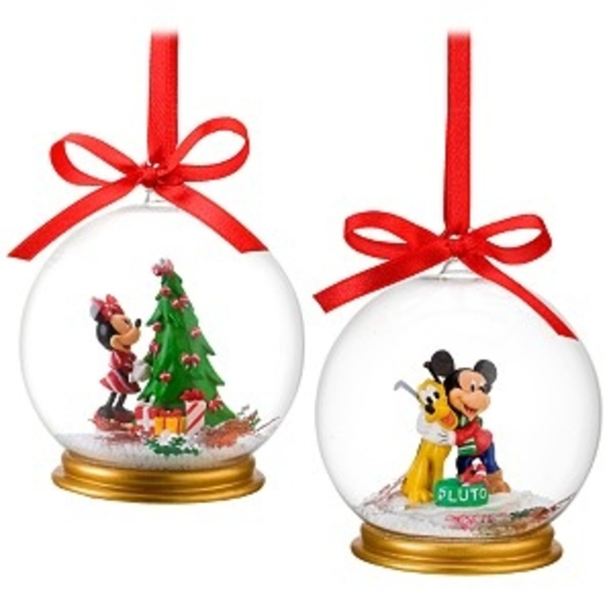 Disney Snow globe Ornament Set