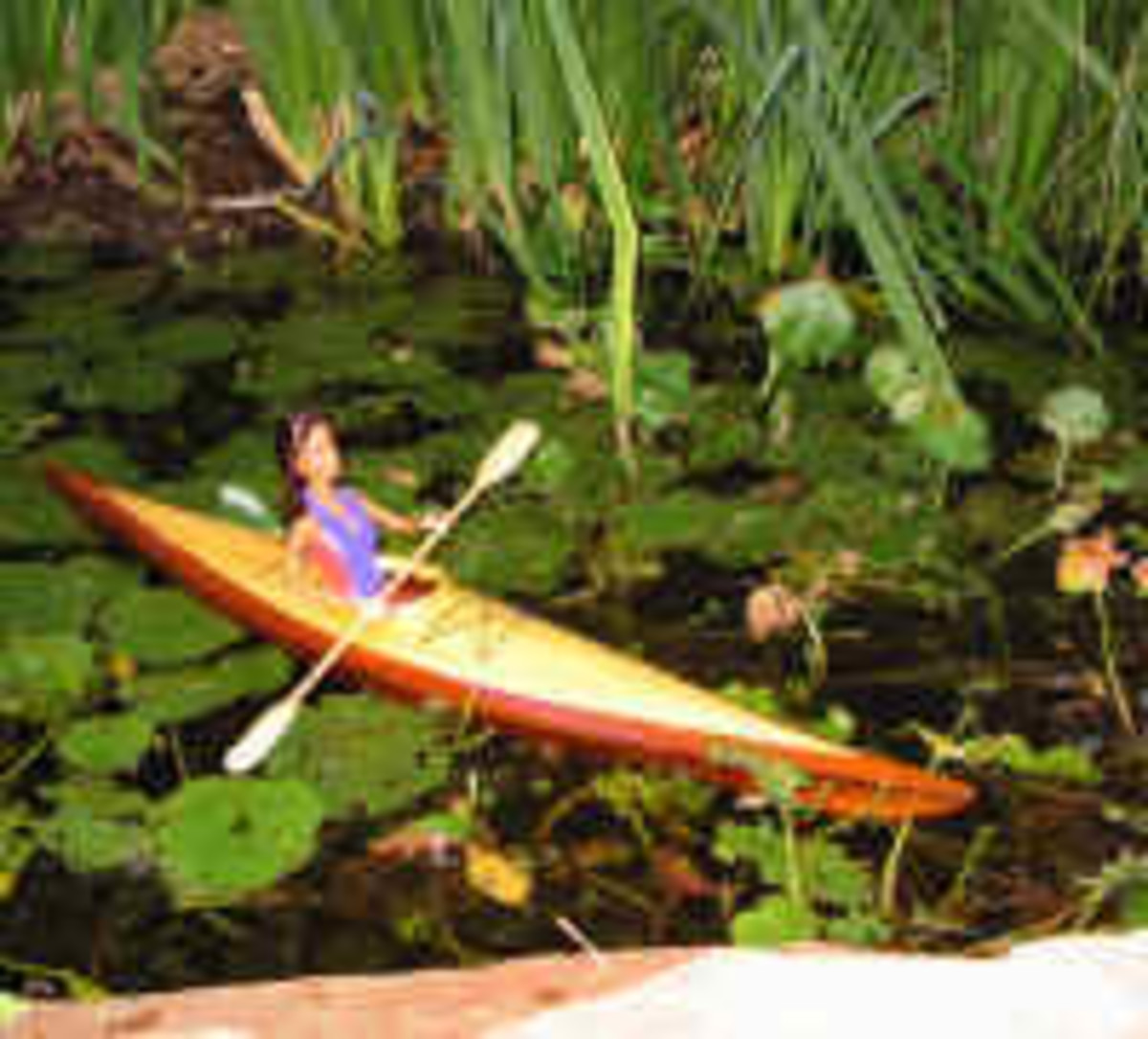 Barbie with outdoor sports - kayaking