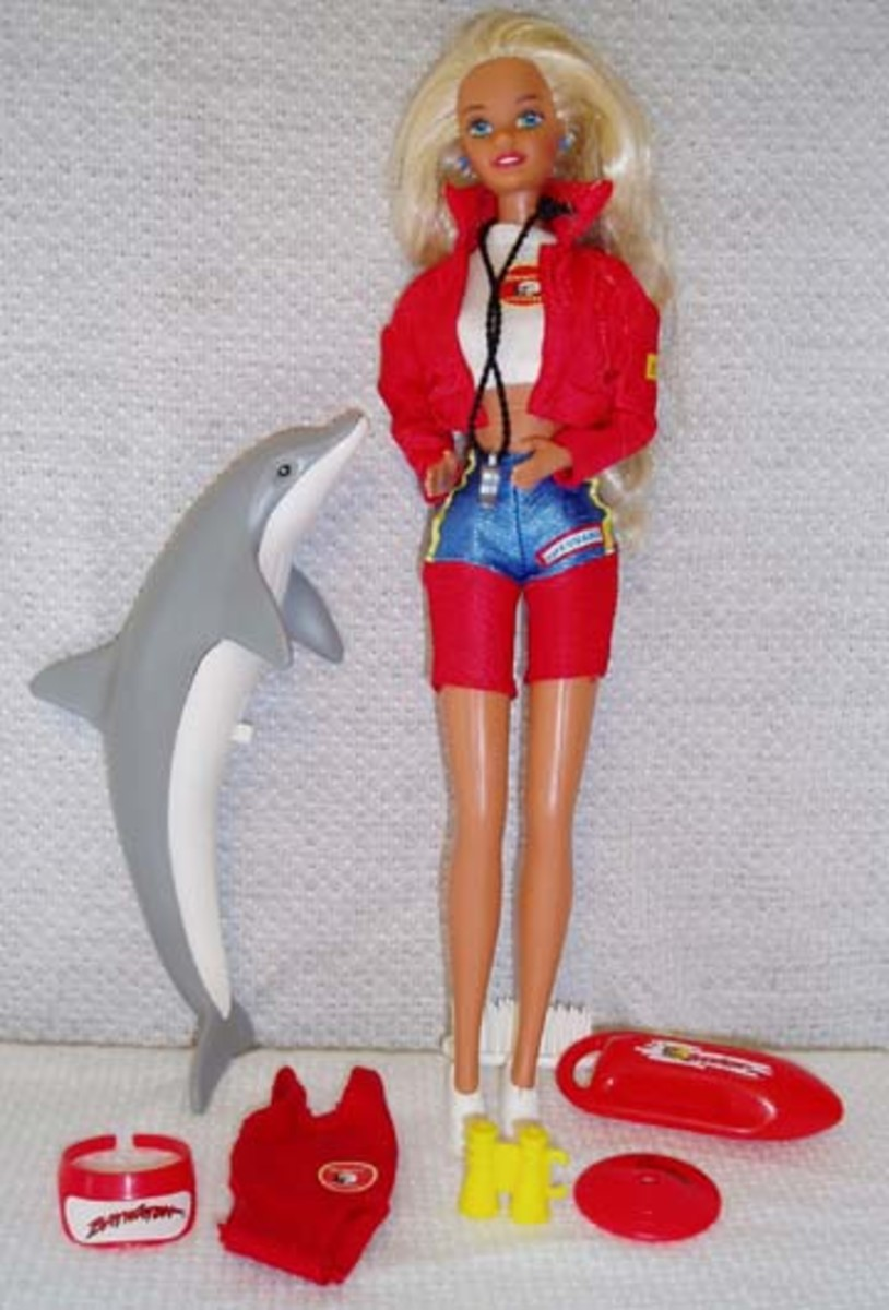 Scuba Barbie Doll in Red Outfit