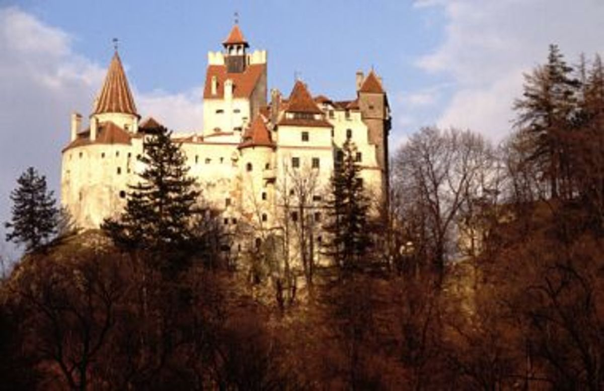 Bran Castle - tourists are told this is Dracula's Castle but I only stayed here infrequently.