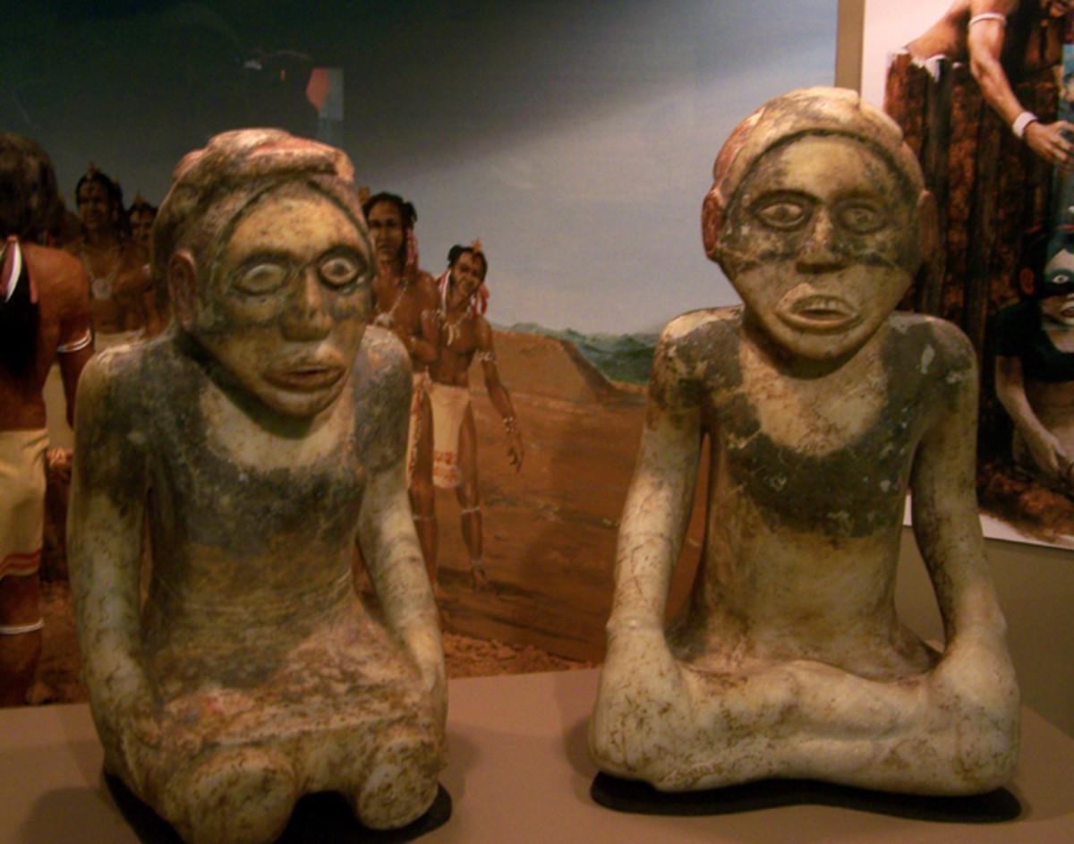 Native figures in Georgia.