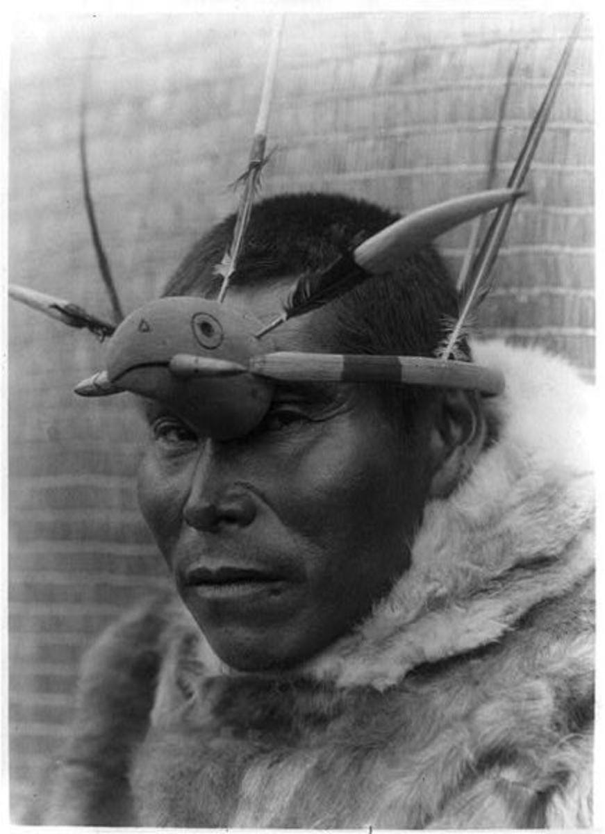 A Yup'ik man on Nunivak Island, Alaska.