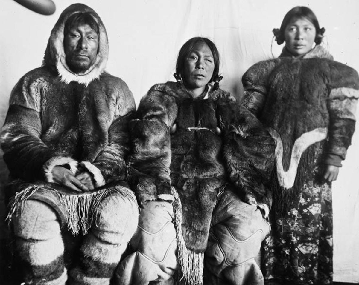 Inuits at Cape Fullerton, Nunavut, Canada; 1905.