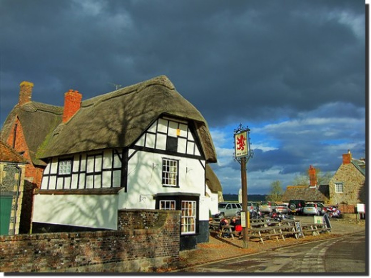 The Red Lion Avebury the most haunted pub in England. Its said to be in the middle of an ancient stone ring!