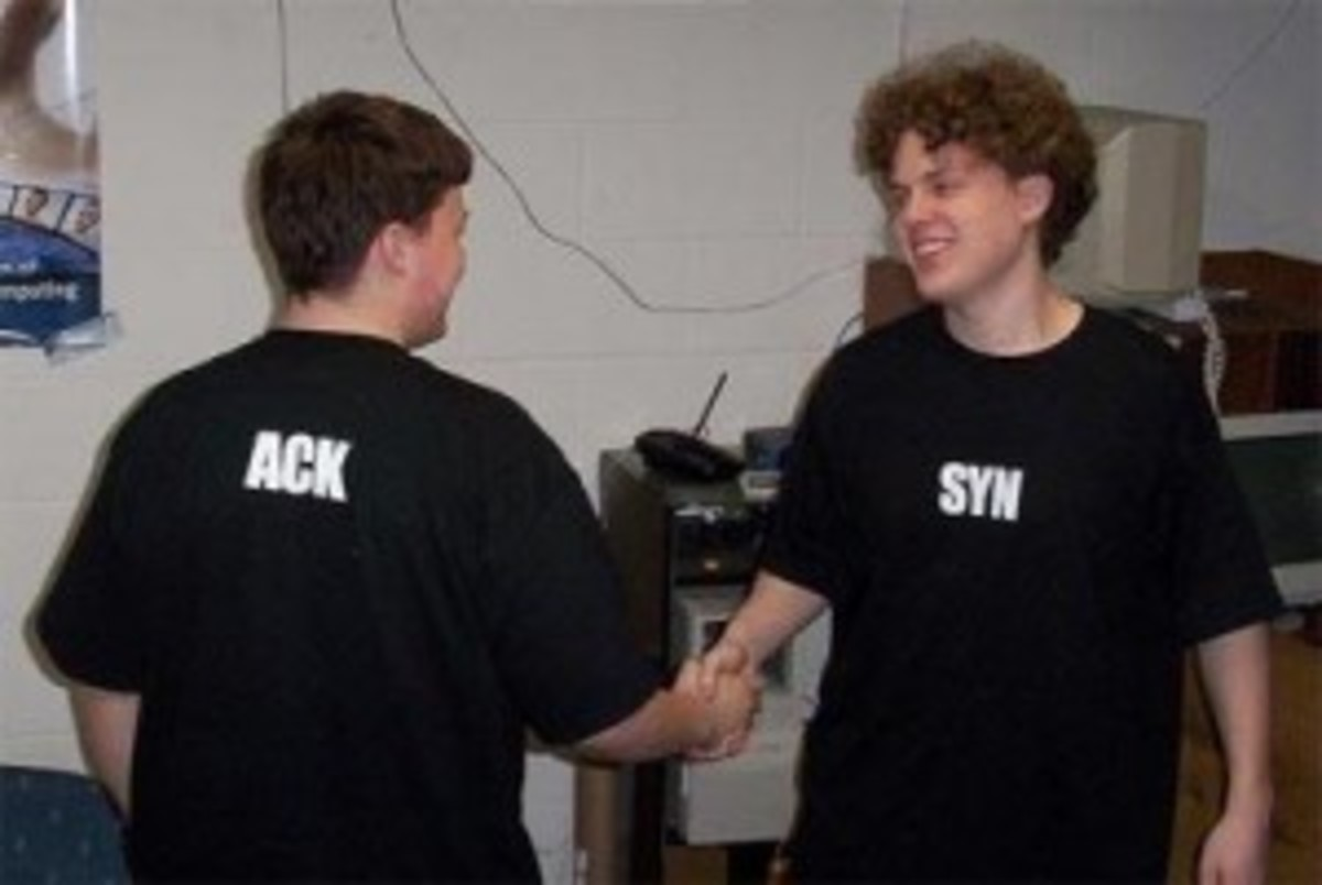 TCP is nice and likes handshakes