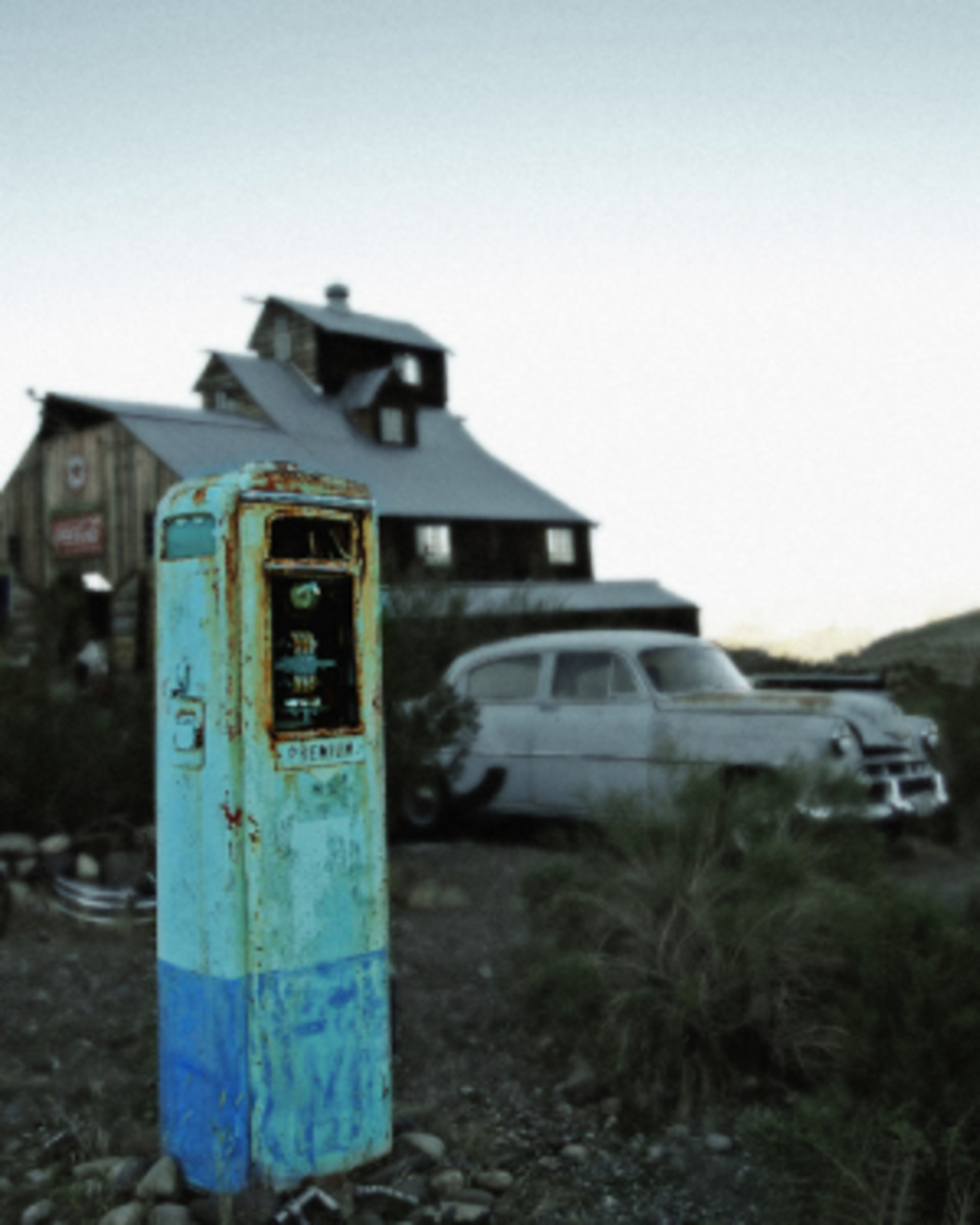 An old gas pump in Nelson, Nevada.