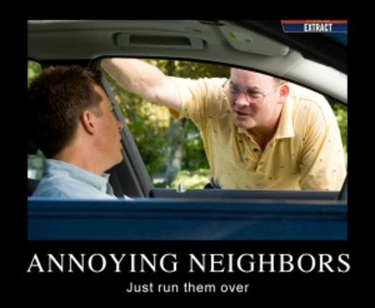 Neighbor mad at me for something I never did!?
