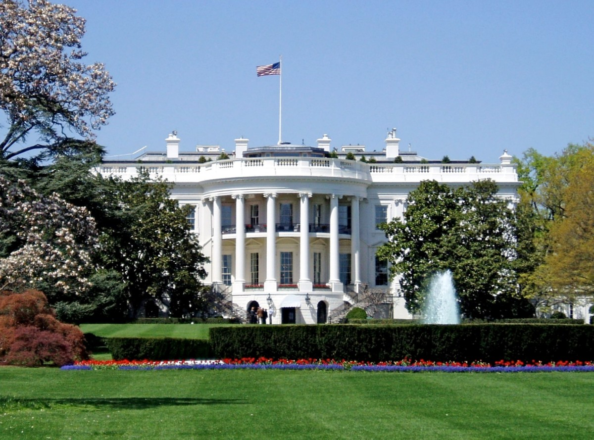 The design of the White House in the United States was strongly influenced by a classical Roman architectural aesthetic. See: https://en.wikipedia.org/wiki/White_House#Design_influences