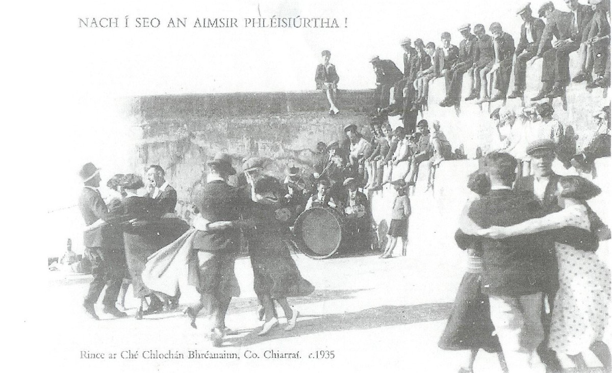 Dancing on Clogherhead Pier 1935