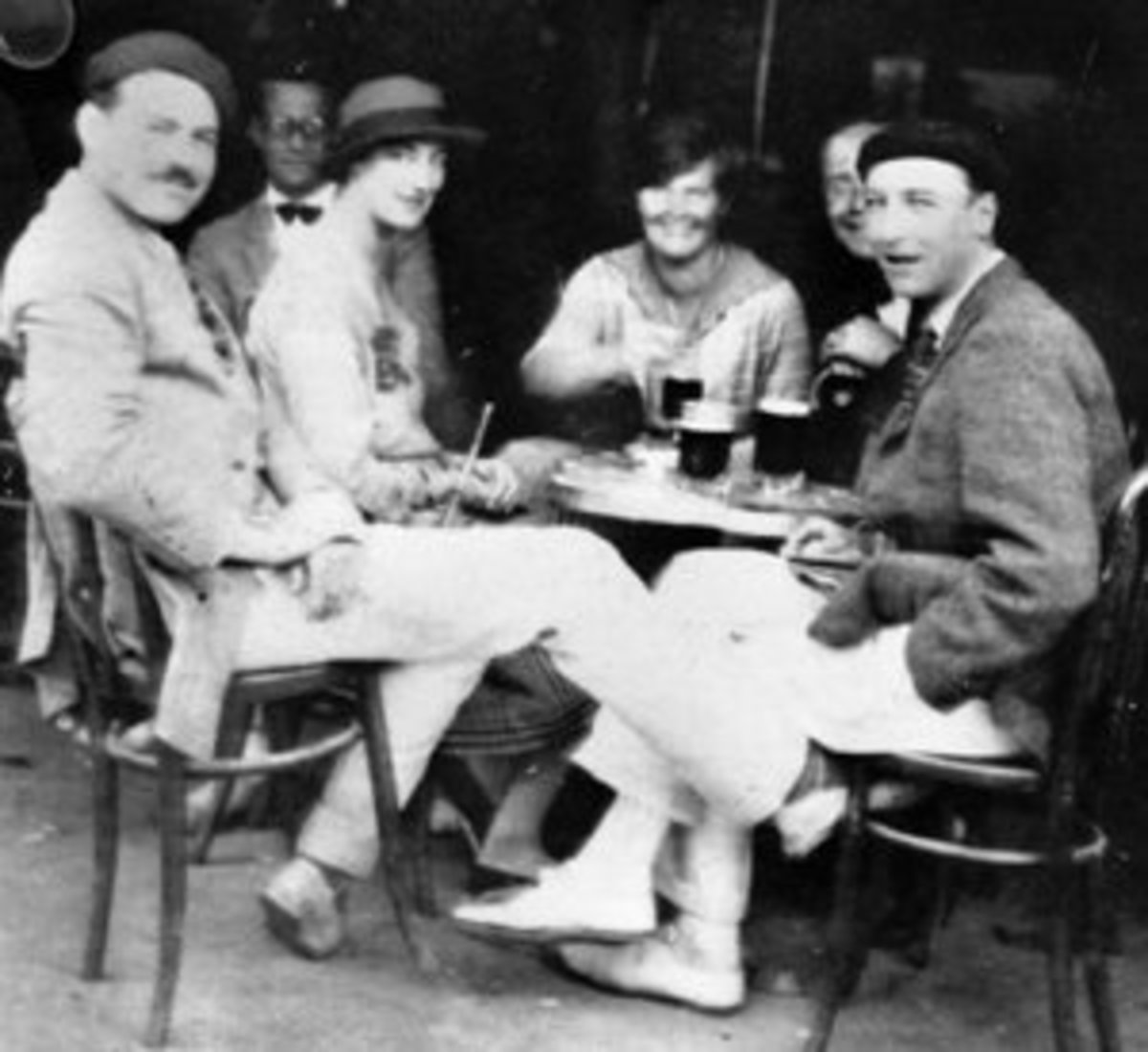 Hemingway and others in Spain 1925